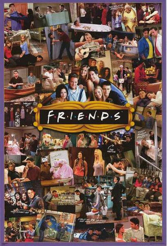 Friends TV Show Photo Collage Rare Vintage Poster