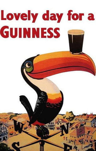 Lovely Day For A Guinness Beer   Vintage Advertising Poster