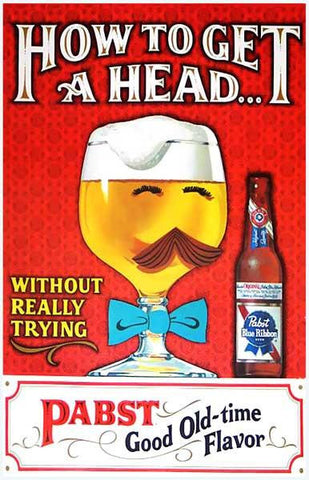 Pabst Blue Ribbon Beer Ad Vintage Advertising Poster