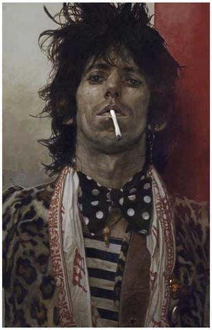 Rolling Stones Keith Richards B/W Rare Poster