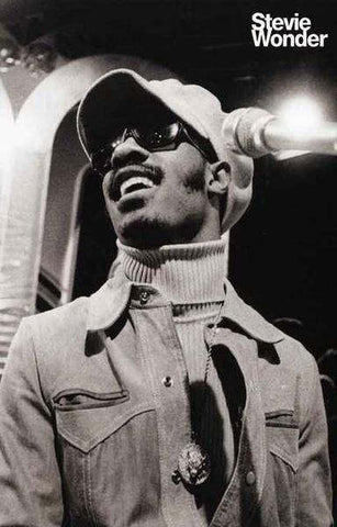 Stevie Wonder  Early  Portrait Poster