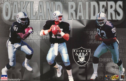 Oakland Raiders 3 Players 1995  Poster