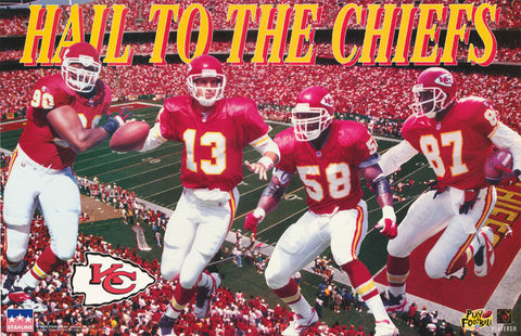 Kansas City Chiefs Hail To The Chiefs 1997  Poster