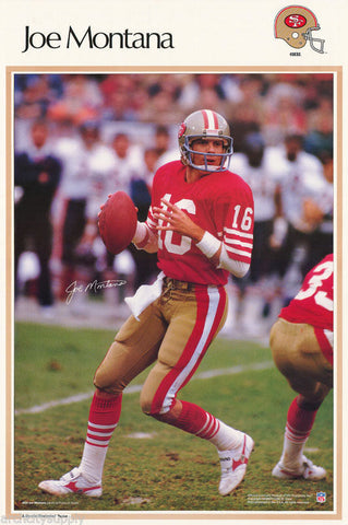 Joe Montana San Francisco 49ers  1990  Poster