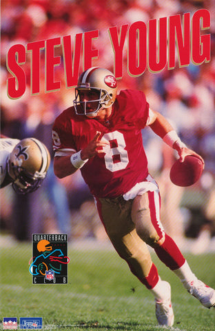 Steve Young San Francisco 49ers 1993  Poster