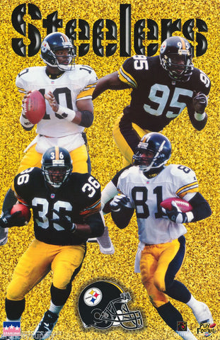 Pittsburgh Steelers Jerome Bettis Greg Lloyd Charles Johnson Kordell Stewart 1997 Poster