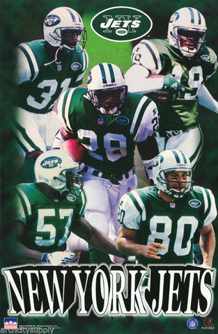 New York Jets Collage Of Stars 1997 Poster