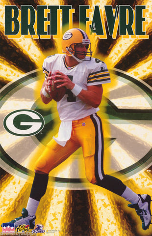 Brett Favre Green Bay Packers 1997 Poster
