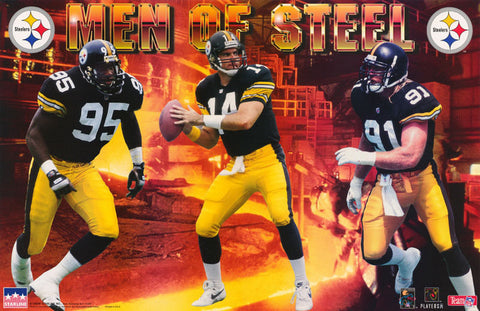 Pittsburgh Steelers Men Of Steel 1995 Poster