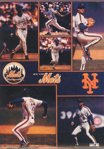 "New York Mets Collage  Giant Poster 42"" X 58"""