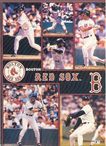 "Boston Red Sox Collage  Giant Poster 42"" X 58"""