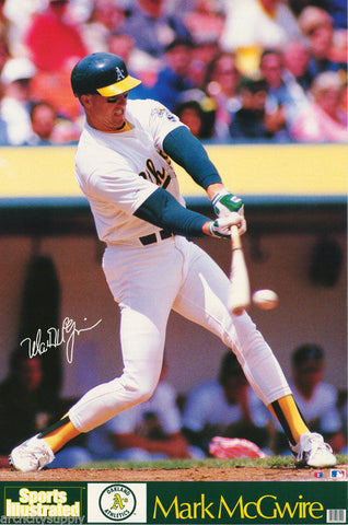 Mark McGwire Oakland Athletics 1989   Poster