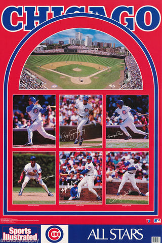 Chicago Cubs Collage   1991  Poster