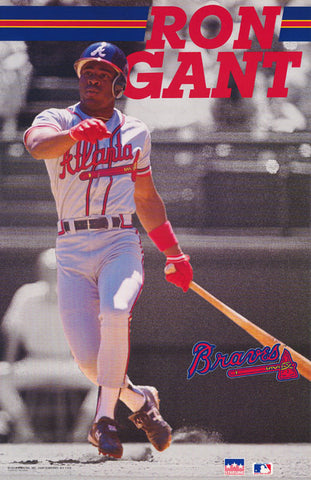 Ron Gant Atlanta Braves 1991  Poster