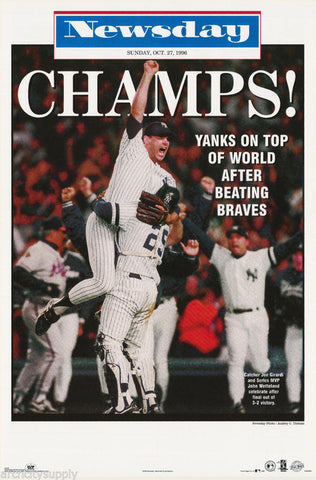 New York Yankees World Series Champs 1996 Poster