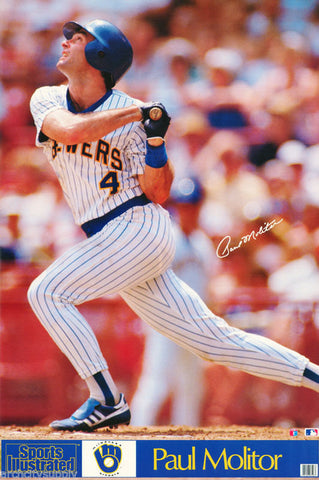 Paul Molitor Milwaukee Brewers 1990 Poster