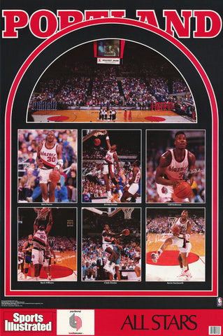 Portland Trailblazers All Stars 1990 Poster
