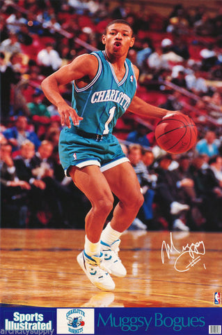 Muggsy Bogues Charlotte Hornets 1990 Poster