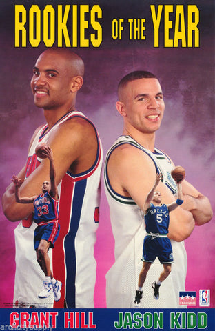 Grant Hill and Jason Kidd Rookies Of The Year 1995 Poster