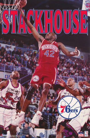 Jerry Stackhouse Philadelphia 76ers 1996  Poster