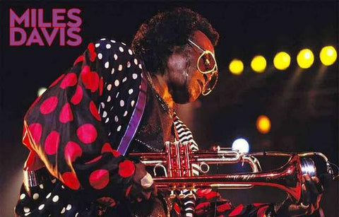 Miles Davis Live on Stage  Rare Poster Print