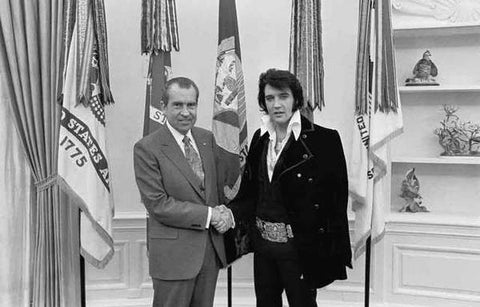 Elvis Presley And Richard Nixon  1970 Rare Poster
