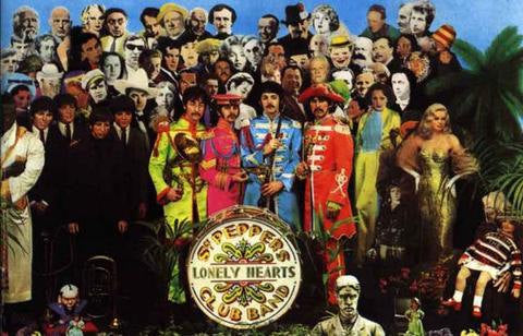The Beatles Sgt. Peppers Album Cover  Rare Poster