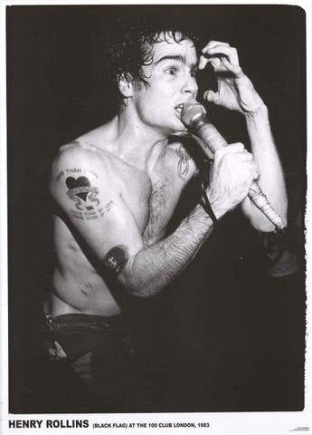 Henry Rollins Black Flag London 1983 Rare Poster