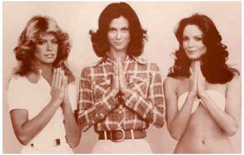 Charlie's Angels Farrah Fawcett Jaclyn Smith Kate Jackson Sepia Rare Vintage Poster