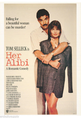 Tom Selleck In Her Alibi Rare Vintage Poster