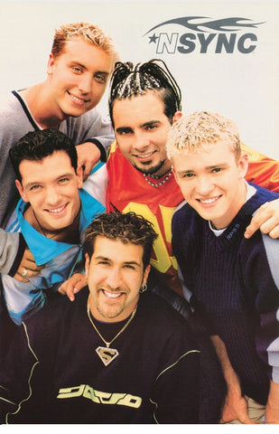 N Sync Group Shot Rare Vintage Poster