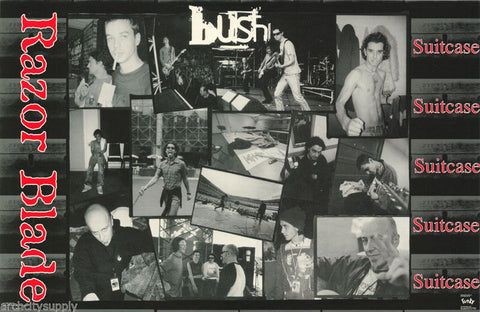 Bush Band Gavin Razor Blade Collage 1996 Rare Poster
