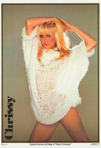 Suzanne Somers Three's Company 1980 Rare Vintage Poster