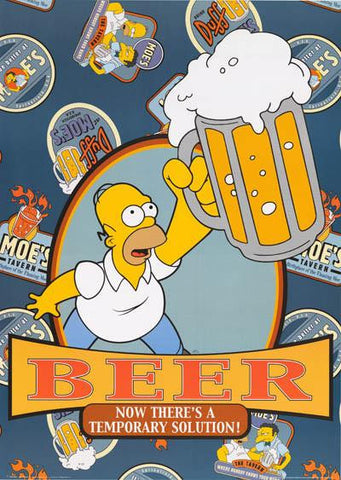 The Simpsons Homer Simpson Beer Quote Rare Vintage Poster