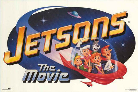 The Jetsons Cartoon Movie 1990  Rare Vintage Poster