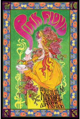 Pink Floyd London 1966 Rare Poster