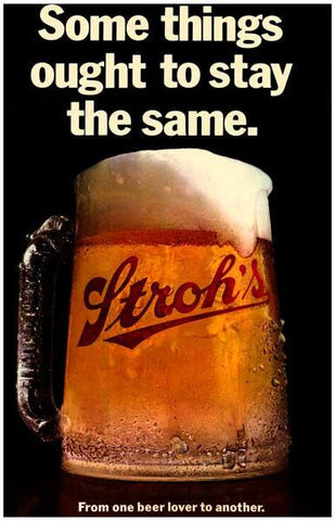 Stroh's Beer Vintage Advertising Poster