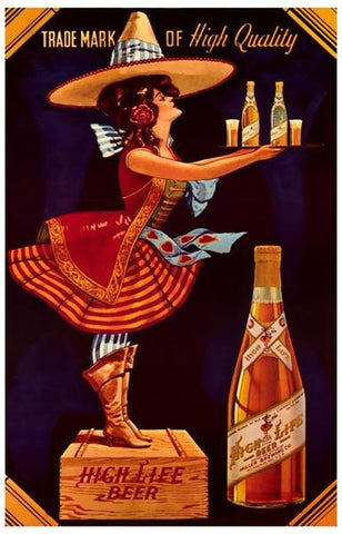 Miller High Life Beer Ad  Vintage Advertising Poster
