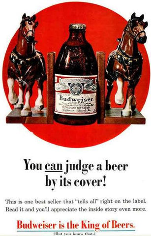 Budweiser Vintage Beer Ad Vintage Advertising Poster