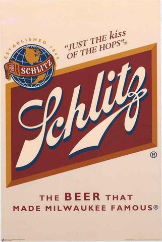 Schlitz Beer Vintage Advertising Poster