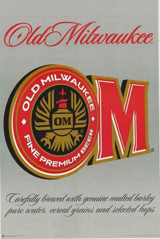 Old Milwaukee Beer Vintage Advertising Poster
