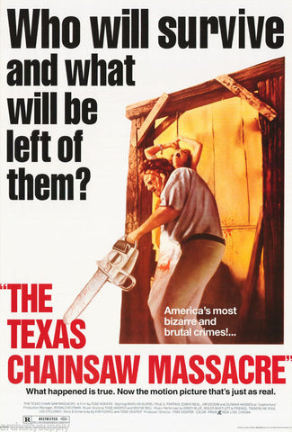 The Texas Chainsaw Massacre Rare Vintage Poster