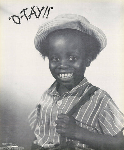 The Little Rascals Our Gang Buckwheat O'Tay  Rare Vintage Poster