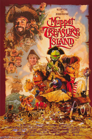 The Muppets Treasure Island  Rare Vintage Poster