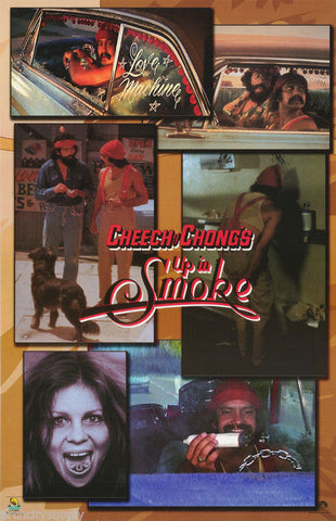 Cheech And Chong Up In Smoke  Rare Vintage Poster