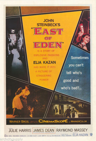East Of Eden James Dean Julie Harris Rare Vintage Poster