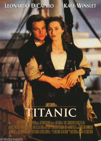 Titanic Leonardo DiCaprio Kate Winslet At The Helm  Rare Vintage Poster