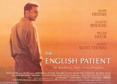 The English Patient Ralph Fiennes William Dafoe 1996  Rare Vintage Poster