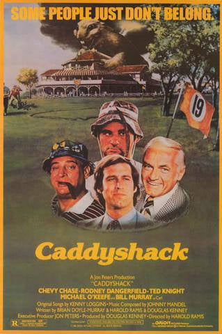 Caddyshack Chevy Chase Bill Murray Rodney Dangerfield  Rare Vintage Poster