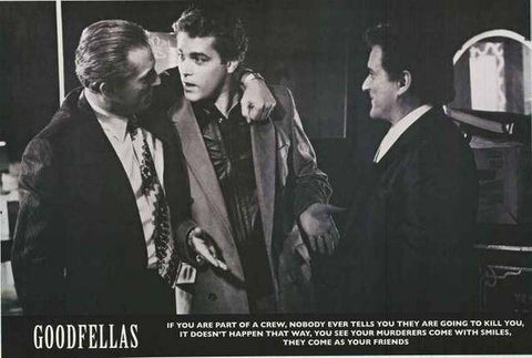 Goodfellas Quote Rare Vintage Poster
